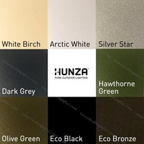Hunza PURE LED High Power Wall Spots - Eco black
